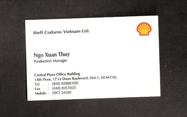 Carte De Visite Shell Codamo Vietnam Ltd