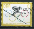 Timbre Allemagne RDA 1963  Obl   N° 703  Y&T  JO d'Hiver