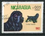 Timbre du NICARAGUA 1982  Obl  N° 1189  Y&T  Chiens