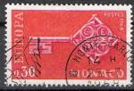 Monaco 1968; Y&T n° 749; 0,30F Europa orange & rouge-carminé