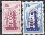France Europa 1956 Sc 805-6 used