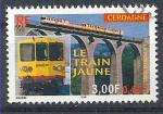 2000 FRANCE 3338 oblitéré, cachet rond, train jaune