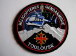 INSIGNE TISSUS PATCH GENDARMERIE NATIONALE HELICOPTERE SAG DE TOULOUSE VELCROS