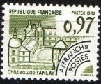 174 - Chateau de Tanlay -0,97 olive - neuf - année 1982